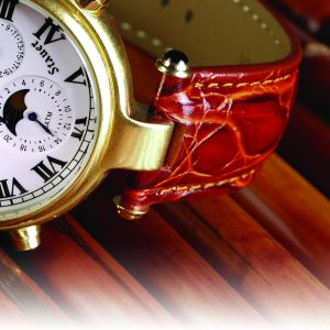 Leather Strap for Gold Graves Watch